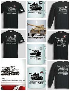 T-Shirts, Pullovern Wandtattoos, Tassen uvm. mit Motiven von deutschen Panzern des 2.Weltkrieg (WWII). Neben dem berühmten Tiger Panzer gibt es auch den Hetzer Panzer, den Kampfpanzer Maus und viele weitere. / mehr Infos auf: www.Guntia-Militaria-Shop.de