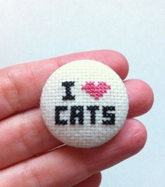 cross stitch button | Tumblr