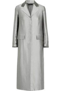 The Row - Muedi Wool-blend Satin Coat - Silver