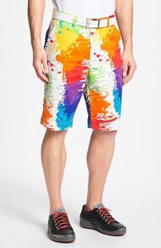 Loudmouth golf 'Drop Cloth' shorts