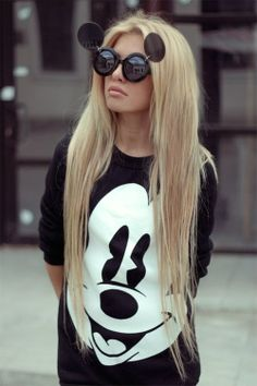 Mickey Mouse Style #MickeyMouse, #style, #fashion, facebook.com/...