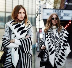2017 autumn and winter in Europe and the United States big black and white double color scarf