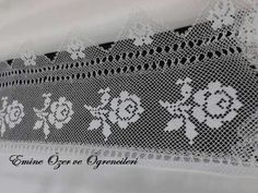 Needle Lace, Crochet Home, Filet Crochet, Elsa, Tejidos, Drawing Rooms, Embroidery, Crochet House, Crochet Lace