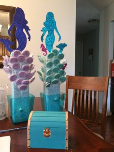 Mermaid Birthday Cakes, Mermaid Party Favors, Mermaid Party Decorations, Little Mermaid Birthday, Little Mermaid Parties, Birthday Party Decorations, Mermaid Baby Showers, Baby Girl Shower Themes, Diy Décoration