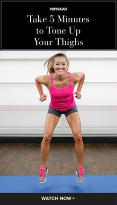 Bye-Bye Cottage Cheese Thighs: 5 Minute Leg Toning Workout - Strengthen and tone your powerful gams with this quick and effective workout. Fitness Workouts, 7 Workout, Fitness Motivation, Sport Fitness, Toning Workouts, Workout Videos, Fun Workouts, Health Fitness, Workout Plans
