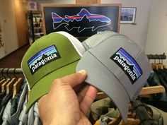 8cd5a37f58cf4  patagonia P-6 Logo LoPro Trucker Hats in  Willow Herb Green  amp