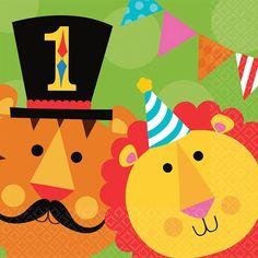 Fisher Price 1st Birthday Circus Lunch Napkins 16ct