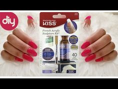Diy professional coffin nails 9 long lasting how to coffin shape in this video i show you how to apply the kiss acrylic nail kit that you can find at your local dollar general or walmart solutioingenieria Images