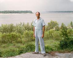 Joel Sternfeld A Man on the Banks of the Mississippi, Baton Rouge, Louisiana, August 1985 Stranger Passing