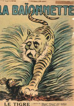 Dessin de Sem « le Tigre » publié dans La Baïonnette le 13 mars 1919. Paris, coll. musée Clemenceau.