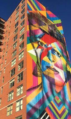 Street Art by Kobra, located in New Jersey Best Street Art, 3d Street Art, Street Artists, Kobra Street Art, Graffiti Cartoons, Sidewalk Chalk Art, Installation Art, Art Installations, Jersey City