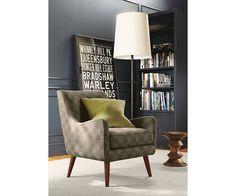 Quinn Chair Ottoman In Meta Fabric Chairs Living Room Board 800