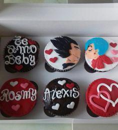 Cupcakes Vegeta y Bulma. Maricarmen's cakes online Store