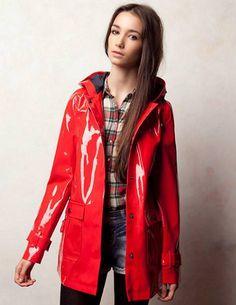Red pvc mackintosh | raincoats | Pinterest | Red