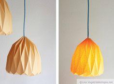 Lampenschirm selbst falten