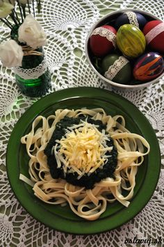 Tagliatelle with spinach #Easter http://www.oslavuj.sk/tagliatelle-so-spenatom/22971