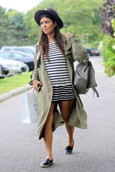 Gestante: O estilo de Kourtney Kardashian grávida!