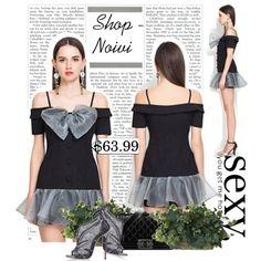 Sexy Horizontal Neck Dew Shoulder Strap Dress