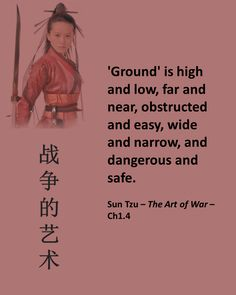 The Art of War Ground, one of the five factors that will lead to victory.