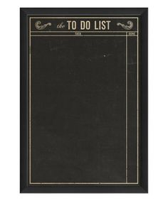 Another great find on #zulily! To Do List Framed Chalkboard #zulilyfinds