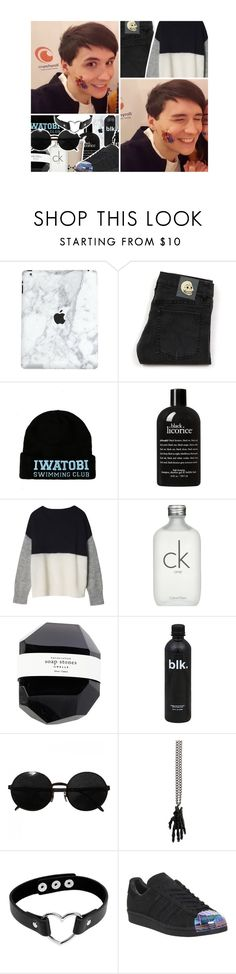 """""""🐝 ; if you're gonna be the death of me that's how i wanna go"""" by addxctions ❤ liked on Polyvore featuring Cheap Monday, philosophy, Calvin Klein, Versace, Atelier 11 and adidas"""