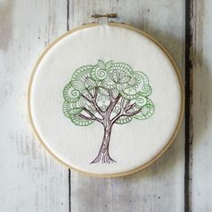 Hoop Art   Delicate Tree  Environment  Sustainable  by CaboPickles, $24.95