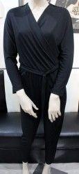 Čierny nohavicový overál