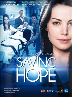 Saving hope-- adore this show! Started watching it bc I love medial shows. And paranormal shows, this has both! I watched it at first bc Of Daniel Gillies, I LOVE HIM! This show is amazing, I totally ship Joel and Alex! (Daniel Gillies & Erica durance bring such chemistry and passion to their characters!)