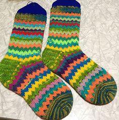 Ravelry: Ziggy Plays Guitar Socks pattern by square [ j ] jane (Monster socks)