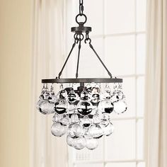 """Bling 11 1/4"""" Wide Patina Bronze and Glass Mini Pendant - #1C630   Lamps Plus"""