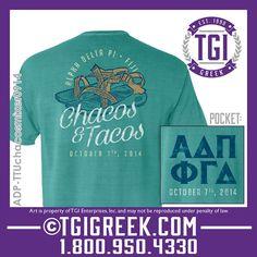 TGI Greek - Alpha Delta Pi - Phi Gamma Delta - Date Party - Comfort Colors - Greek T-shirts #tgigreek #alphadeltapi #phigammadelta