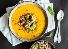 Butternut Pumpkin Soup with Quinoa