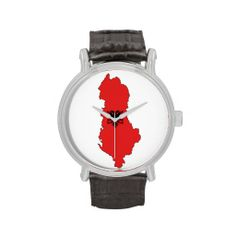 Albania - map and flag - watch - ore dore - Shqiperia - harta e Shqiperise dhe shqiponja e flamurit