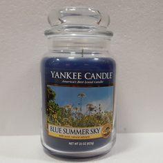 USA LIMITED SPECIAL: YANKEE CANDLE® DUFTKERZE BLUE SUMMER SKY GROSSES GLAS 623G