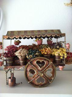 Vintage Flower Market Cart Made out of by Roseantiqueboutique, $149.99