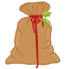 Santa's Bag SVG cutting files for scrapbooking cute cut files christmas svg cut files free svgs