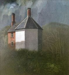/'The Badminton Game/' David Inshaw greetings cards x3