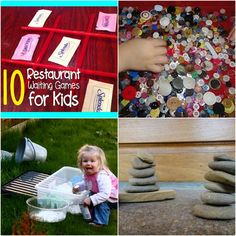 Busy play ideas! Restaurant waiting game ideas for kids! Awesome ideas :)