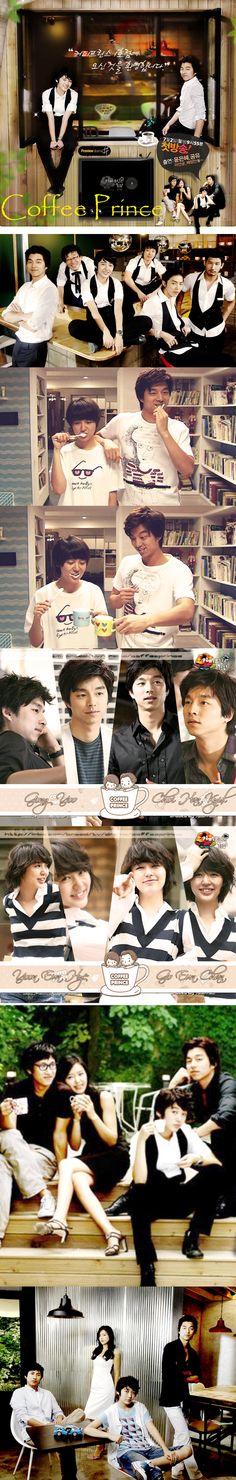 Coffee Prince (The 1st Shop of Coffee Prince)  2007 K Drama - 17 episodes - Gong Yoo / Yoon Eun Hye / Lee Sun Gyun / Chae Jung Ahn
