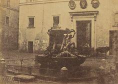 Tartarughe Fountain, Rome, 1856 - 1859, Elba, Rome, Fountain, Places, Painting, Art, Craft Art, Water Well, Painting Art
