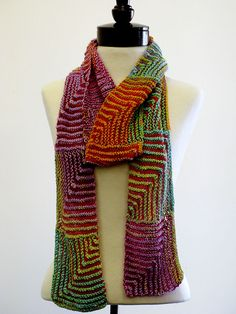 Ravelry: The Jane Scarf pattern by Zahra Jade; idea for strips for sontag pattern Mitered Square, Scarf Hat, Knitted Shawls, Cowls, Knits, Squares, Ravelry, Jade, Knit Crochet
