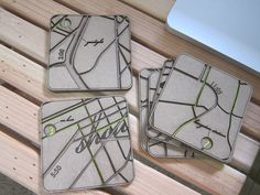 coasters...initials, map of your city?