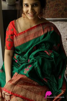 Kerala Saree Blouse Designs, Cotton Saree Designs, Fancy Blouse Designs, Bridal Blouse Designs, Kurta Designs, Trendy Sarees, Stylish Sarees, Fancy Sarees, Latest Silk Sarees