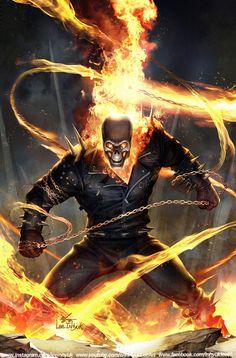Marvel Tales: Ghost Rider Vol 1 InHyuk Lee on ArtStation Ghost Rider Johnny Blaze, Ghost Rider Marvel, Marvel Art, Marvel Heroes, Ms Marvel, Captain Marvel, Ghost Raider, Ghost Rider Wallpaper, Ace Comics