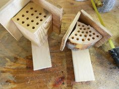 Make your own little Bee Houses  quickly and easily