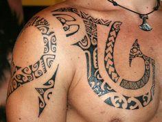 Polynesian Tahitian Tattoo Model of Armor Marquesas