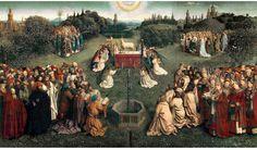 Jan van Eyck Гентский алтарь 1425-1432. Кафедральный собор святого Бавона, Гент.