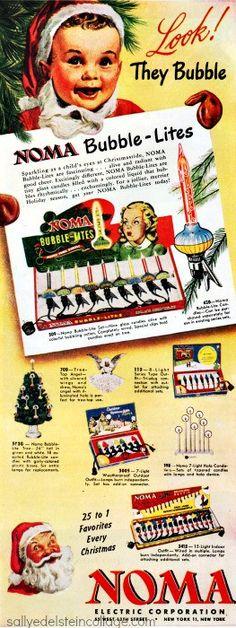 Vintage bubble lights ad :: 1947 Noma Bubble-Lites