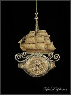Victorian Christmas Ornament  Sailing the Seas by SilverOwlStudio, $190.00