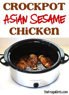 Crockpot Asian Sesame Chicken Recipe! ~ from TheFrugalGirls.com ~ Just a few simple ingredients and you've got yourself a delicious Slow Cooker chicken dinner bursting with flavor! #slowcooker #recipes #thefrugalgirls